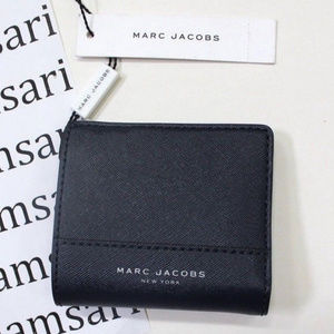 Marc Jacobs Leather Open Face Bifold French Navy